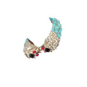 CHANEL Jewelry - CHANEL 08C Runway Gripoix Lion Cuff Bracelet